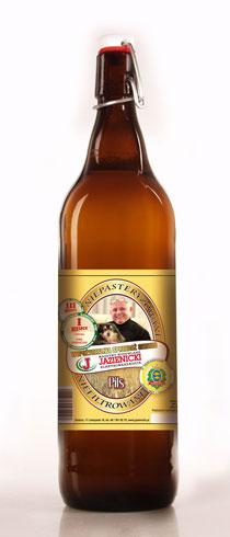 piwo z włansną etykietą na prezent